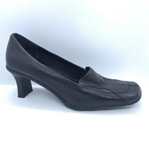 Nine West Heels Women Size 9.5 Slip On Shoes Black - $30.00
