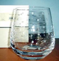 Kate Spade Larabee Dot Crystal Ice Bucket Etched Polka Dots 90oz. New In Box - $128.90