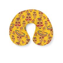 Mexican Sugar Skulls in Gold Travel Neck Pillow - $448,67 MXN+