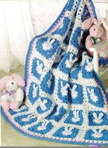 Crochet Easter Bunny Egg Xmas New Years 4th Of July Mother's Day Afghan Pattern  - $11.99