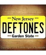 Deftones Heavy Metal Band New Jersey State Aluminum Vanity License Plate - $12.82