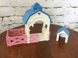Vintage Fisher Price Horse Stable With Fence Dog House - $19.79