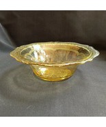 """Federal Patrician Round Berry Bowl 8.5"""" Amber Yellow Depression Glass 1930's - $28.49"""