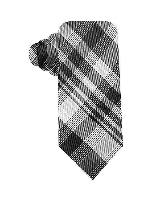 Alfani Spectrum Hand Made Joe Plaid Slim Silk Neck Tie  MSRP $49.50