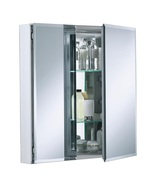 Medicine Storage Cabinet with Square Mirrored Double Door 25 in x 26 in ... - $165.99