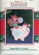 1992 New in Box Enesco Christmas Ornament - Squirrelin It Away - $8.90