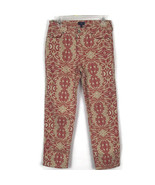 NYDJ Womens Jeans Size 6 Coral Tan Swirl Design Ankle Jeans Stretch Fabr... - $21.65