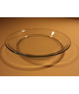Standard Pie Dish Plate 9 1/4in Diameter x 1 1/2in H Clear Glass - $17.79