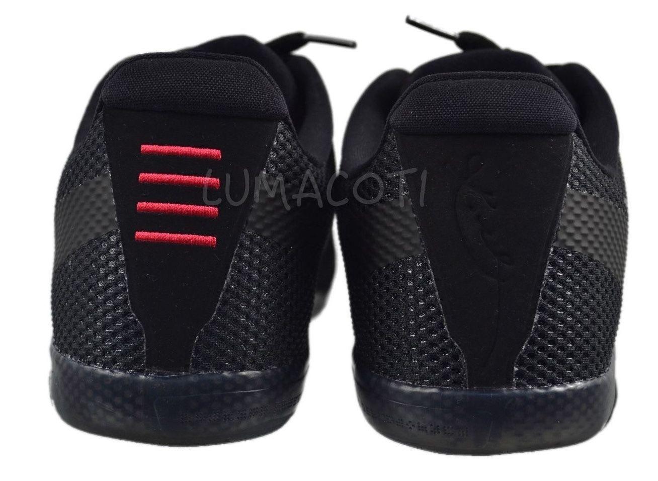[836183 001] Mens Nike Kobe 11 Black/Cool Grey Low Athletic Sneakers