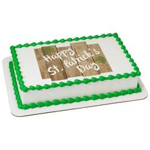 Happy St.Pat's Day Fence Edible Cake Topper Image - $9.99+