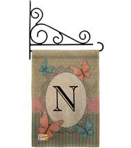 Butterflies N Initial Burlap - Impressions Decorative Metal Fansy Wall Bracket G - $33.97