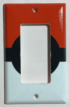 Pokemon Red Pokeball ball Light Switch Power Outlet Wall Cover Plate Home decor image 3