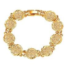 U7 Women 18K Gold Plated Link Allah Coin Charm Bracelet, Muslim Jewelry - $27.99