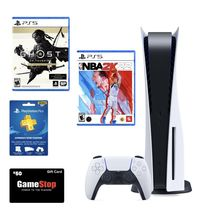 PlayStation 5 Disc (PS5) Gamestop Bundle NBA 2K22 Ghost Of Tsushima And PS PLUS - $1,059.98