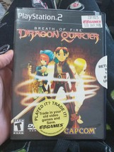 Breath of Fire: Dragon Quarter (Sony PlayStation 2, 2000) RPG PS2 ACTION  - $24.74