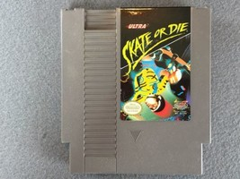 NINTENDO NES GAME SKATE OR DIE VINTAGE VIDEO GAME CARTRIDGE COLLECTIBLE~ - $3.95