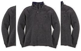 Ralph Lauren Little Boys' French Rib Half-Zip Pullover Size 4/4T Dark Gr... - $27.71