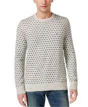 Tommy Hilfiger Men's Geometric Pullover Crew Knit Sweater Beige size Lar... - $48.99