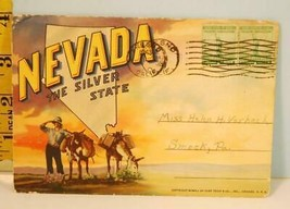 """1941 Curt Teich """"Nevada The Silver State"""" Postcard Package EX - $3.95"""