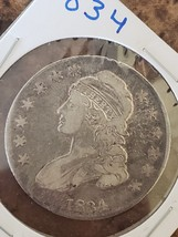 1834 Capped Bust Half Dollar 50¢ Coin Lot# 918-13