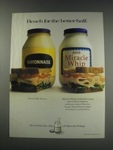 1991 Kraft Miracle Whip Ad - Reach for the better half - $14.99