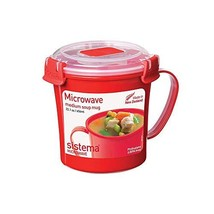 Sistema Microwave Collection Noodle Bowl 22.1 Ounce, Red - £11.44 GBP