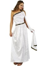 RG Costumes Women's RG Roman Toga Adult White Long Costume, One Size - $35.96