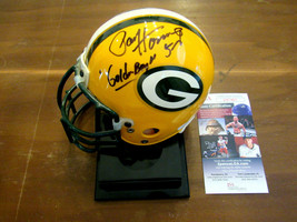 PAUL HORNUNG # 5 GOLDEN BOY  GB PACKERS HOF SIGNED AUTO MINI RIDDELL HEL... - $197.99