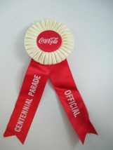 Coca-Cola Official Centennial Parade Ribbon 100th Anniversary Red RARE  - $37.13