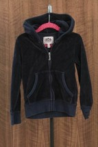 Juicy Couture Girls Zip Hoodie Top Terry Cloth Loungewear Size 5 - $20.74
