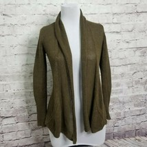 Anthropologie Angel of the North Size XS Olive Green Knit Open Front Car... - $37.39