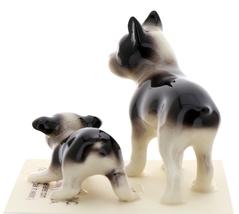 Hagen-Renaker Miniature Ceramic Dog Figurine Boston Terrier & Boston Terrier Pup image 3