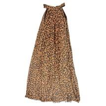 Sleeveless Plus Size Leopard Chiffon Dress Maxi Summer Beach Leopard Dresses image 3