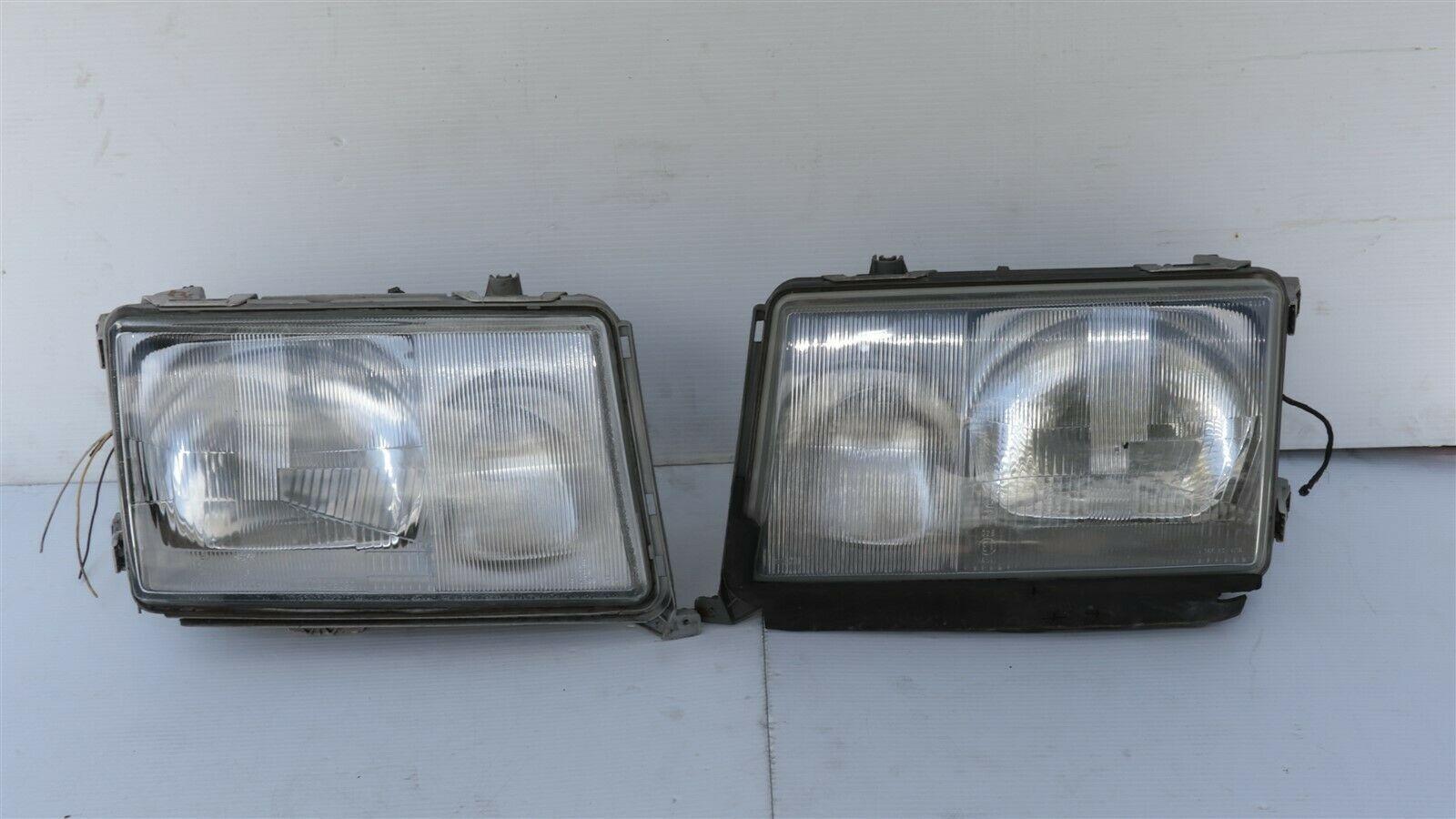 86-93 Mercedes W124 260E 300E 300D 300TE 400E Euro E-Code Headlight Lamps Set LR
