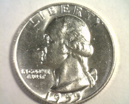 1955-D WASHINGTON QUARTER CHOICE UNCIRCULATED CH. UNC. NICE ORIGINAL COIN - $25.00