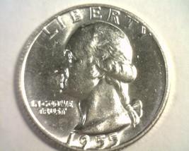 1955-D WASHINGTON QUARTER CHOICE UNCIRCULATED CH. UNC. NICE ORIGINAL COIN - $25.00