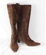 Boden Brown Suede Leather Boots size 37 us 6.5 Womens Casual Shoes  - $16.08