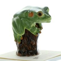 Hagen Renaker Frog on Tree Stump Ceramic Figurine
