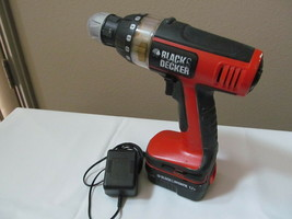 Black & Decker BD 12V Drill BD12PS w/Battery & Charger Tested  - $19.75