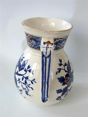 Wedgwood BEATRICE Aesthetic Milk Jug Pitcher Cobalt Blue Red White Gold c.1880