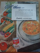 Vintage Campbell's Vegetable Soup Print Magazine Advertisement 1945 - $5.99