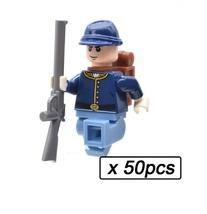 50 Lot American Civil War Soldier North US Revolutionary War MOC Buildin... - $91.99
