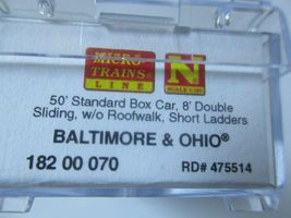 Micro-Trains #18200070 Baltimore & Ohio 50' Standard Boxcar N-Scale image 4