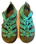 KEEN Teal And Gray Womens Waterproof Hiking Walking Sandals size 5  - $22.50