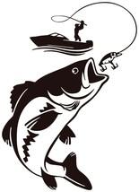 Fisherman Big Fish catch Logo Vinyl Decal - $2.81+