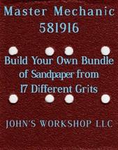 Build Your Own Bundle Master Mechanic 581916 1/4 Sheet No-Slip Sandpaper 17 Grit - $0.99