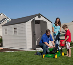 Large Garden Shed 8x12 Ft Patio Tool Storage Building Outdoor Deck Utili... - $1,961.99