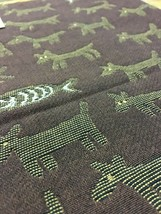 Donghia Upholstery Fabric Housepets Dog Motif 2.625 yd  Brown 05850 - $124.69