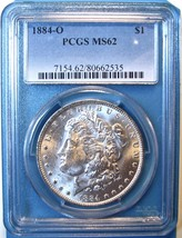 1884-O PCGS Morgan Silver Dollar. MS62. MG4. - $61.00