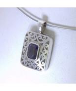 Pendant Blue Iolite Gemstone Handmade 925 Unisex Solitaire Filigree Desi... - $65.55
